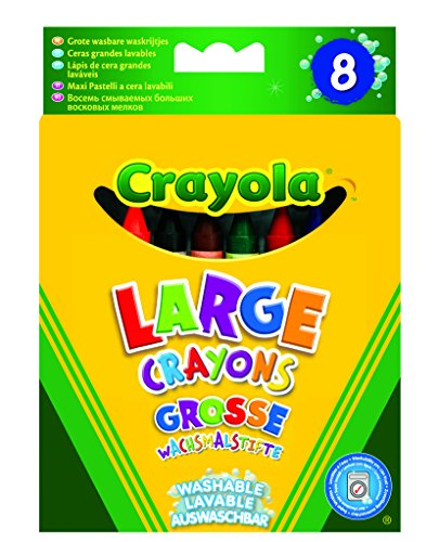 Französische Wand Schatten (Crayola 02.0878DM - 8 Grosse Abwaschbare Wachsmalstifte)