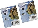 Epson Original T0711 x2 Packung mit 2 Tintenpatrone schwarz