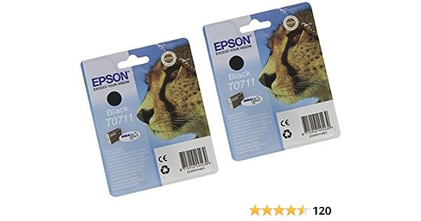 Epson Original T0711 X2 Packung Mit 2 Tintenpatrone Elektronik