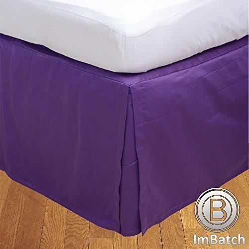 500TC 100% cotone egiziano, finitura elegante scatola salva Bedskirt, pieghettato, a forma di goccia, lunghezza: 55,88 (22) cm), Cotone, Navy Blue Solid, Matrimoniale uk super king Purple Solid