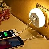 #10: JERN LED Night Light Sensor 2 USB Charging Socket