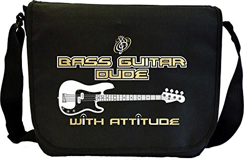 Bass Guitar Dude Attitude - Sheet Music Document Bag Musik Notentasche MusicaliTee
