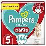 Pampers baby-dry luierbroek maat 5, 12-17 kg, 144 Stuks