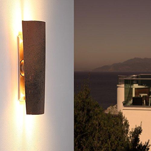 LED-Dachziegelleuchte Assisi | Aussenwandleuchte Assisi | Wandlampe Up&Down | Außenleuchte Höhe 45 cm | Wandleuchte Dachziegel