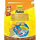 Tetra Pond Flakes Hauptfutter (in Flockenform, besonders gut geeignet für alle Klein- und Jungfische im Gartenteich), 4 Liter Beutel