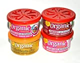 L&D Organic Scent Pad Duftdose 4-er Pack Topseller MIX 2: Bubble Gum, Cherry, Cotton Candy, California Sun,