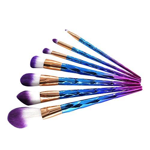 DaySing Brosse, 7 pinceaux de maquillage Set professionnel visage ombre à paupières Eyeliner Foundation Blush