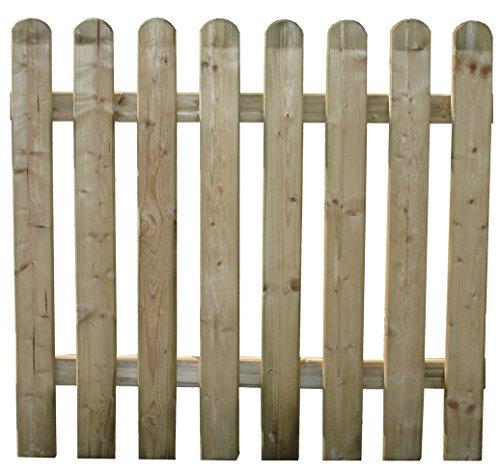 HOMEGARDEN Cancello per Steccato in Legno di Pino per Recinto Giardino 100x100 Cm