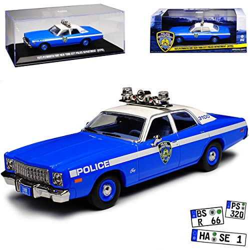 Greenlight Plymouth Fury NYPD New York Police Polizei 1/43 Modell Auto - Auto Plymouth Modelle