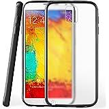 Funda protectora OneFlow para funda Samsung Galaxy Note 3 Carcasa silicona TPU 1,5mm | Accesorios cubierta protección móvil | Funda móvil paragolpes bolso traslúcida transparente en Deep-Black