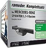 Rameder Komplettsatz, Anhängebock mit 2-Loch-Flanschkugel + 13pol Elektrik für Mercedes-Benz Sprinter 3,5-t Kasten (113731-05590-2)