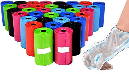Pack de 300 bolsas para recoger las heces del perro (colores surtido)