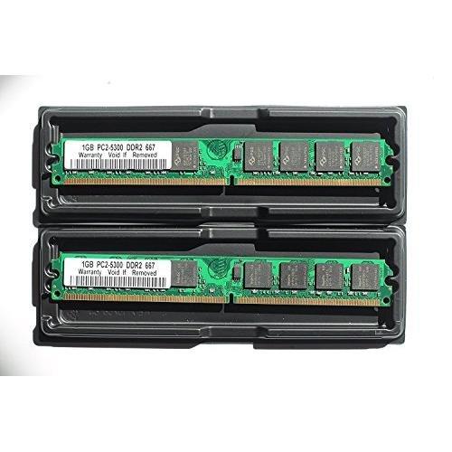 4GB KIT (2x 2GB) DDR2PC2-5300Desktop Speicher Module (240-PIN DIMM, 667MHz) 2GB Kit (2x1GB) PC2-5300 -