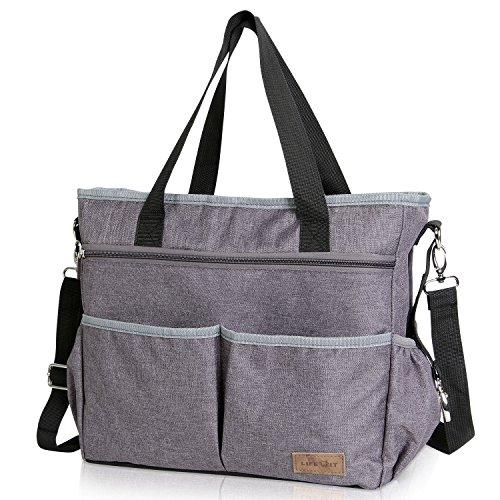 Lifewit borsa fasciatoio neonato bambini, borsa per pannolino impermeabile con attacco passeggino e tracolla per mamma e papà borsa cambio 3 in 1 multifunzionale adatta per passeggino/viaggi/shopping