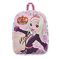 Regal Academy Backpack for Kids - School Bag with Rose - Small Rucksack for Kindergarten - Pink - 30x24x10 cm - Perletti