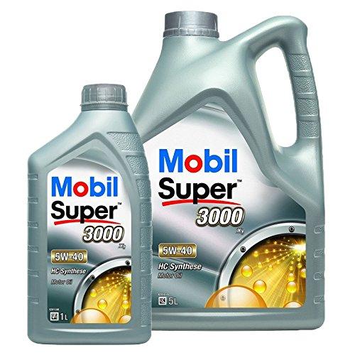 1 L + 5 L = 6 Liter Mobil Super™ 3000 X1 5W-40 Motor-Öl Motoren-Öl; Spezifikationen/Freigaben: ACEA A3/B3, A3/B4; API SN/SM; AAE (STO 003) Group B6; MB-Approval 229.3; VW 502 00/505 00; BMW Longlife-0