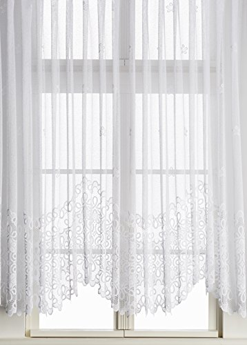 Anna Cortina Bogenstore, Stoff, Weiß, 105x600