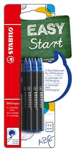 Patrone zum Nachfüllen - STABILO EASYoriginal Refill - medium - 6er Pack - Schreibfarbe blau (löschbar)