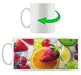 Frutta su ghiaccio, tazza motivi in ??bianco 300ml ceramica, grande idea regalo per ogni occasione. La tua nuova tazza preferita per caffè, tè e bevande calde.