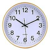 Tosbess 30cm Wanduhr Vintage Holz Wanduhr Küchenuhr Lautlos Uhr Uhren Wall Clock Ohne Tickgeräusche für Wohnzimmer, Küche, Büro