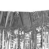 Sharplace Lametta Fadenvorhang Fadengardinen - Silber, 3m X 1m