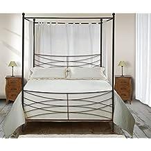 lit bambou baldaquin. Black Bedroom Furniture Sets. Home Design Ideas