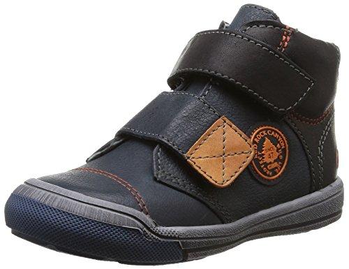 GBB Lorencio, Chaussures Premiers pas bébé garçon Bleu (Vte Bleu/Orange Dpf/2570)