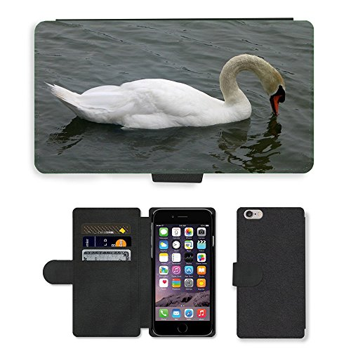 Just Mobile pour Hot Style Téléphone portable étui portefeuille en cuir PU avec fente pour carte//m00139778Cygne Muet d'Oiseaux d'Eau Cygnus Olor//Apple iPhone 6Plus 14cm