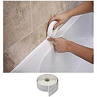 Romote Pared del baño de Cocina WC Resistente al Agua y el Moho de Sellado de Cinta de PVC de 38 mm x 3,2 m