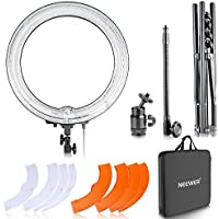 "Neewer Kit cámara Photo Studio 18""Exterior 14"" Interior 600W 5500K Anillo Regulable Fluorescente de luz de Flash para el Retrato, la fotografía de Moda y grabación de vídeo"