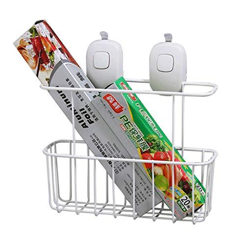 Saugnapf Wandbehang Korb für Küche und Bad - Kein Bohren erforderlich Mehrzweck Organizer Korbablage für Shampoo, Seife, Rasiermesser, Plastikfolie und mehr!