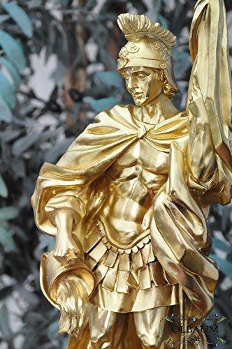 12-13cm, oro/colori bronzata, PREMIUM-Statuetta San Florian, con
