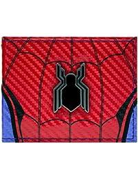 Cartera de Marvel Spider-Man Logotipo de Regreso a casa Rojo