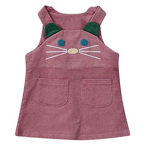 ZIYOU Weste Kleider Baby Mädchen Kitten Drucken Ärmellosen Kleid Kleidung (18M, (Für 1950's Mädchen Kostüme)