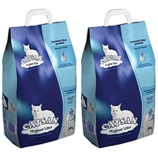 2 x 20L Catsan Hygiene Non-Clumping Cat Litter Multibuy 2 x 20L Catsan Hygiene Non-Clumping Cat Litter Multibuy 51jokf uP9L