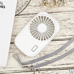 HuaCat Petit Ventilateur USB Silencieux Electrique Mini Ventilateur de Poche sur Batterie Compatible pour Chambre Bureau De Plein air Voyage Rose