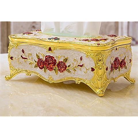 De Estilo Europeo Caja De Papel De Aleación De Zinc De Bombeo De Papel Retro Caja De Hierro Cajas Creativas De Sala De Casa De Tejido Inicio ( Color : # 2 )