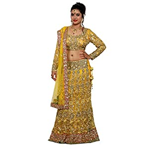 WV&U Women's Chaniya Choli (Yellow_Large)