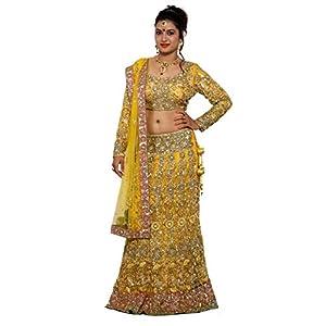 WV&U Women's Chaniya Choli (Yellow_Large)