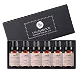 Aromatherapy Essential Oils Top 6 Gift Set - 100% Pure Premium Therapeutic Grade Oils kit -Lavender, Tea Tree, Eucalyptus, Lemongrass, Orange, Peppermint