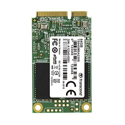 Transcend 64GB SATA III 6Gb/s MSA230S mSATA SSD 230S SSD TS64GMSA230S (64 Gig Ssd)