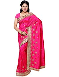 Chirag Sarees Designer Party Wear Pink Embroidered Saree…