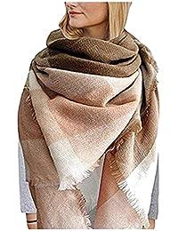 56420dfbdaba6 UMIPUBO Femme Longue Écharpe Châle XXL Écharpe Chale Femme Cachemire Chaud Automne  Hiver Grand Plaid Tissu
