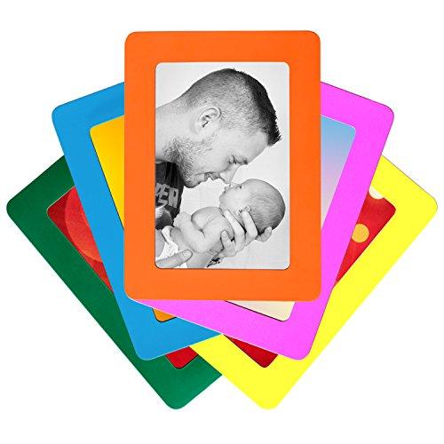 juego-de-5-colorido-magnetico-marcos-de-fotos-por-de-dazzle-tamano-postal-estandar-de-4-x-6-pulgadas