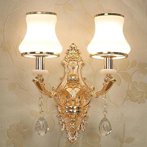 Zinklegierung europäischen Stil Nachttischlampe kreative Wohnzimmer Schlafzimmer Wandleuchte Innen Hotelzimmer Kristall Wandlampe , 2 (Glas Mundgeblasenes Wandlampen)