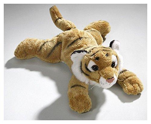 Peluche - Tigre marrón acostado (felpa, 24cm) [Juguete]