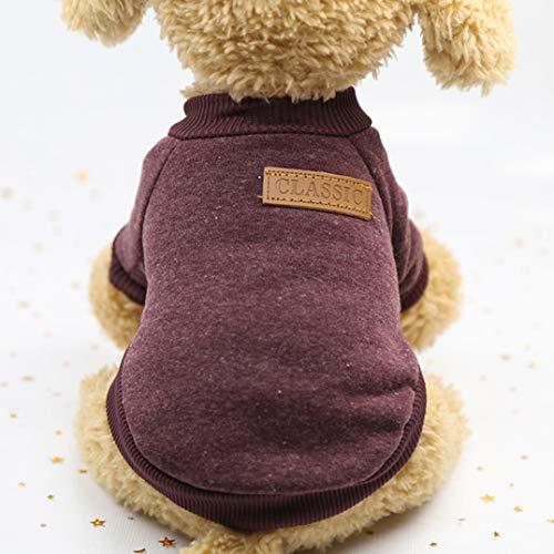 Kaninchen Brown Kostüm - Smoro Haustier Hund Katze Pullover, warme Hunde Pullover Katze Kleidung, Fleece Haustier Mantel für Welpen