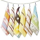 Baby Musselin Waschlappen Handtücher 6er Set 6 Schichten 100% Bio-Baumwolle Allzwecktücher für Baby Mädchen Kinder