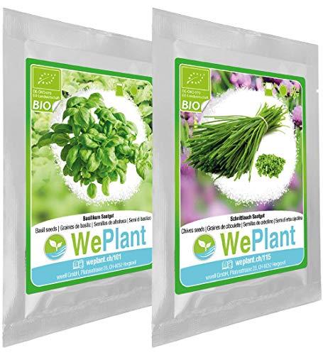 BIO Basilikum & Schnittlauch Pflanzen-Samen Set - indoor/outdoor