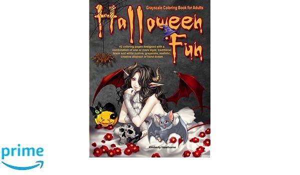 Halloween Fun Grayscale Coloring Book For Adults 42 Halloween Fun